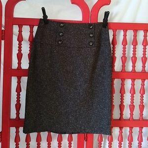 Gray tweed like pencil skirt sz7